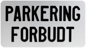 parkeringforbudt